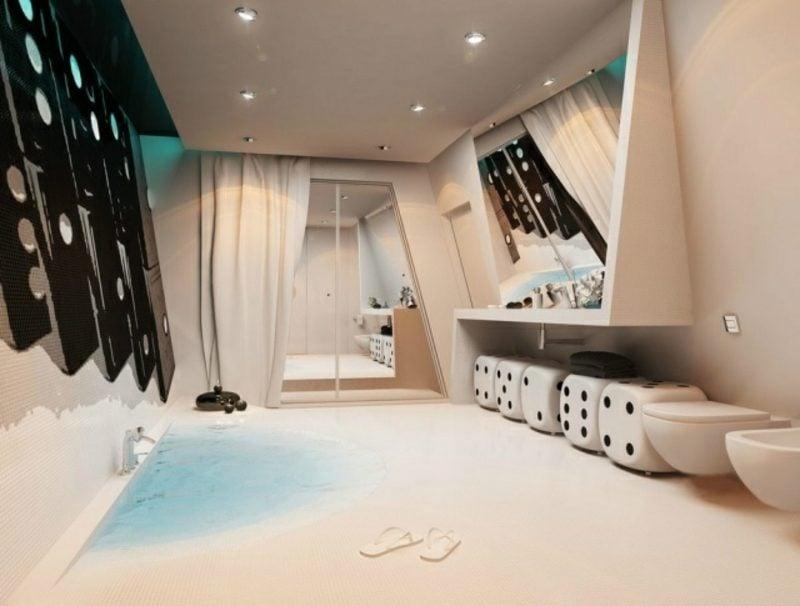 Luxus Badezimmer ausgefallener Look originelle Designerkonzept