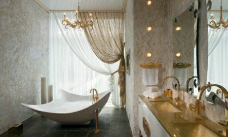 Luxus Badezimmer prachtvolle Einrichtung atemberaubender Look