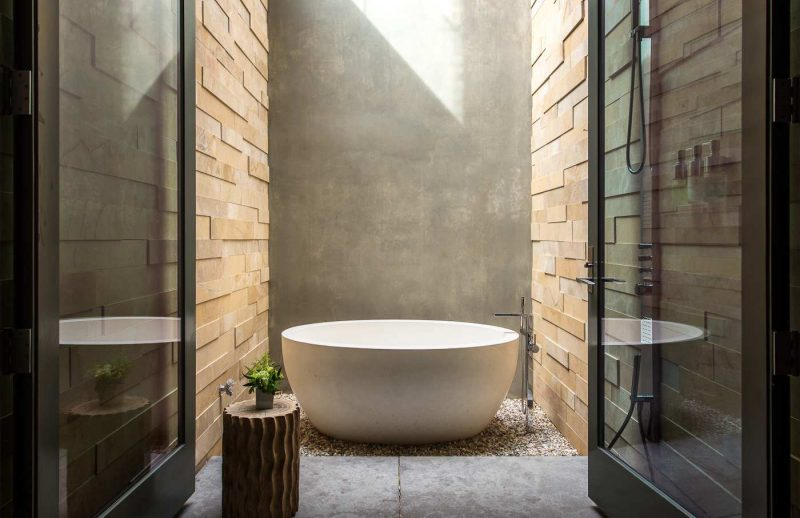 Luxus Badezimmer von der Natur inspiriert