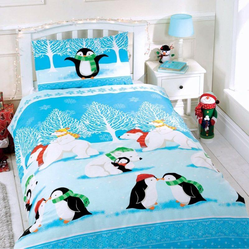 Bettwäsche zu Weihnachten Kinderzimmer lustige Motive