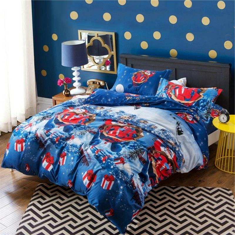 Bettwäsche zu Weihnachten Kinderzimmer herrlicher Look
