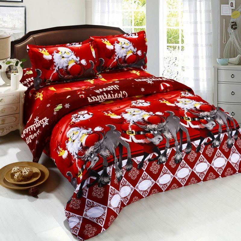 Bettwäsche zu Weihnachten lustige Motive herrlicher Look