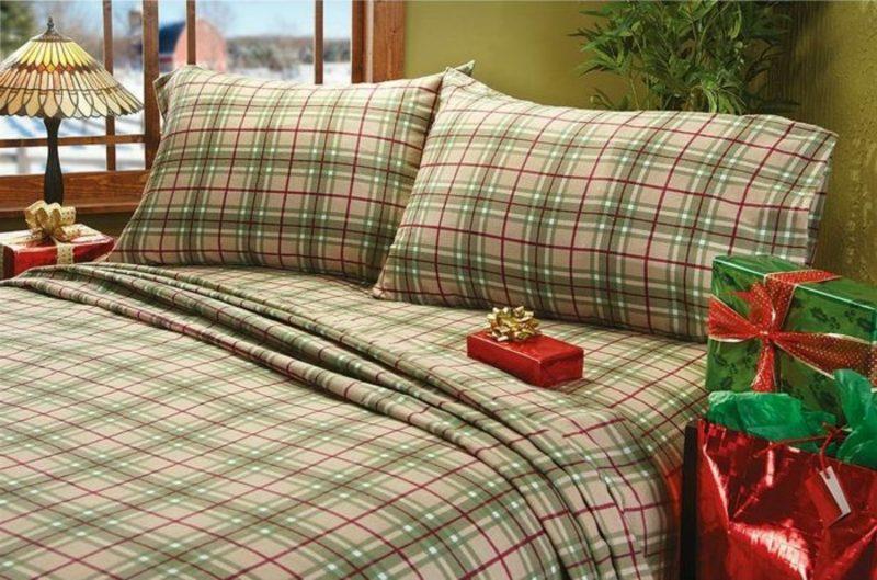 Bettwäsche zu Weihnachten aus Baumwolle kariert