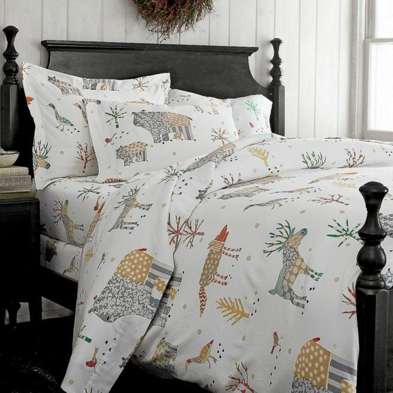 Bettwäsche zu Weihnachten Baumwolle schlichtes Design