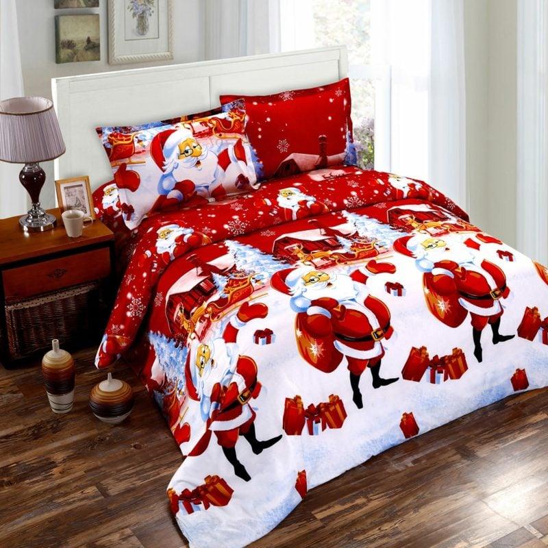 Bettwäsche zu Weihnachten im Rot und Weiss herrlicher Look