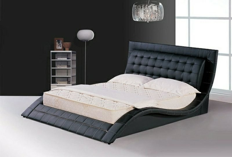 Boxspringbett originelles Design Wellenform