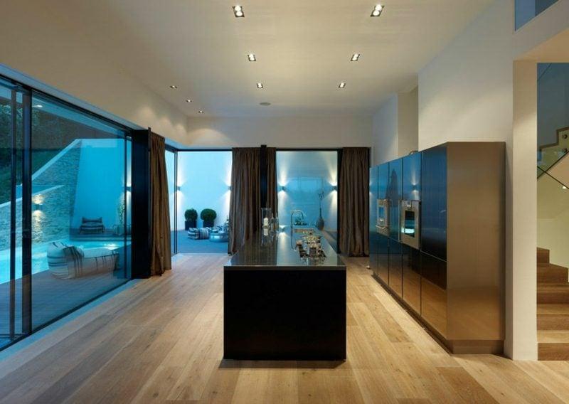Industrieparkett aus Eiche Küche Bodenbelag moderner Look