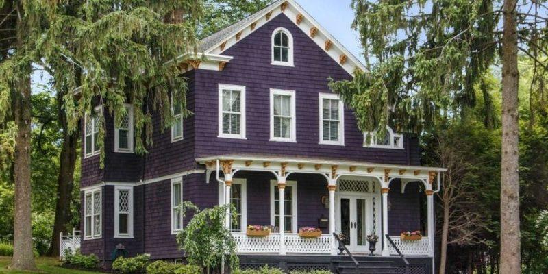 Lila Fassadenfarbe