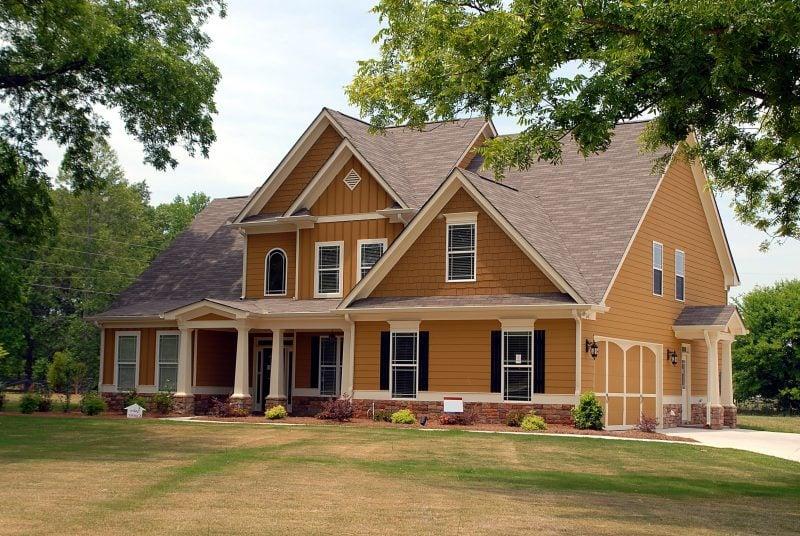 Beige Fassadenfarbe