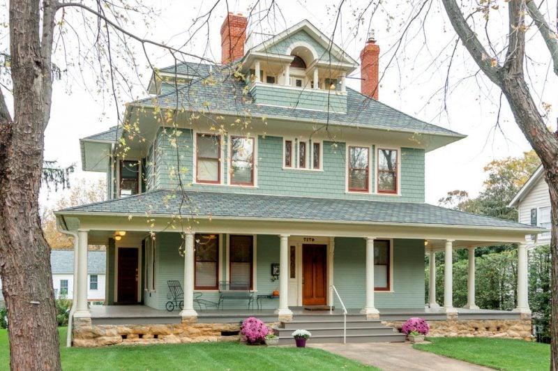 Fassadenfarbe hellgrün  Beispiele für Fassadenfarben - Architektur - ZENIDEEN