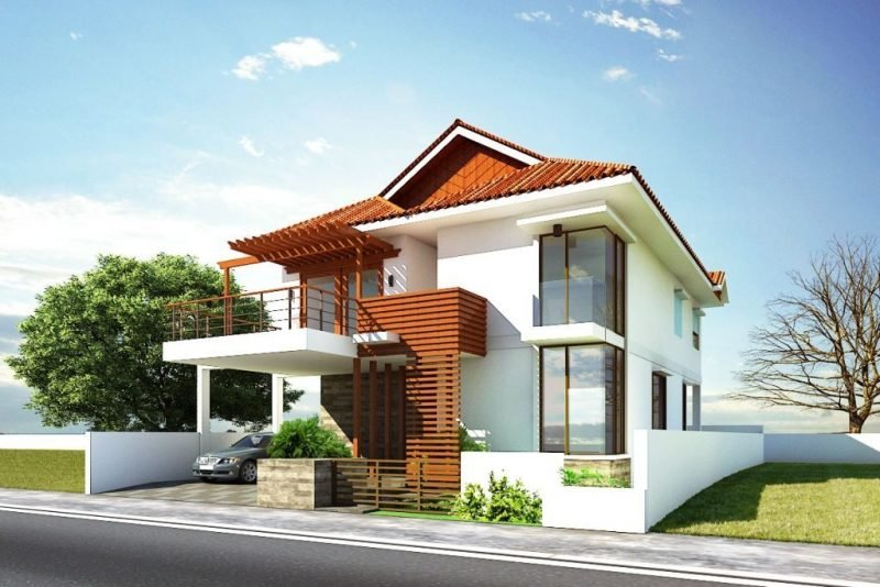 Beispiele f r fassadenfarben architektur zenideen for Best small house designs in the world