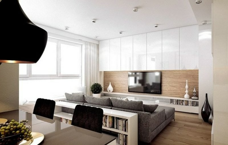 TV Wand selber bauen Wandpaneele aus Holz