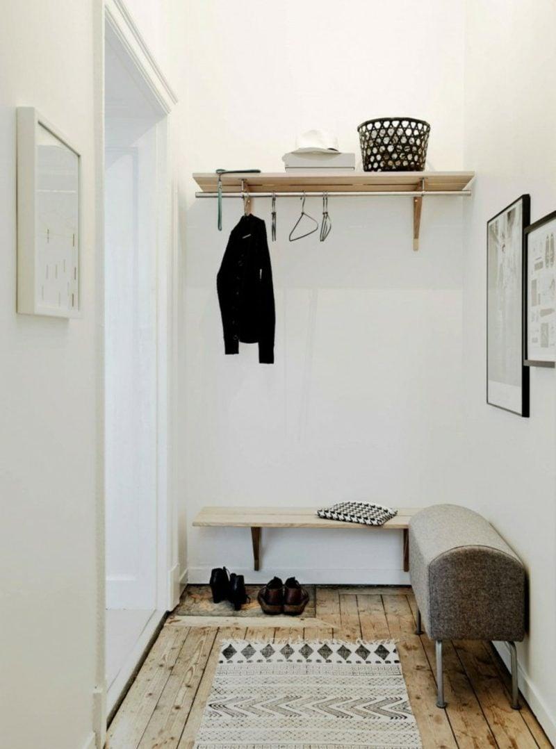 skandinavische Möbel Flur im skandinavischen Stil puristischer Look