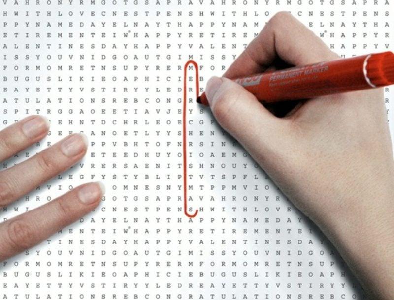 kreative Ideen Geschenkpapier zu Weihnachten Kreuzworträtsel