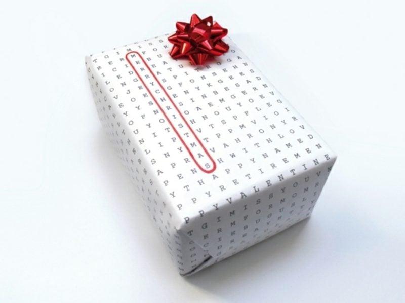 Geschenkpapier zu Weihnachten herrlicher Look Kreuzworträtsel