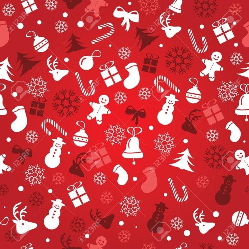 Geschenkpapier zu Weihnachten rot traditionelle Motive