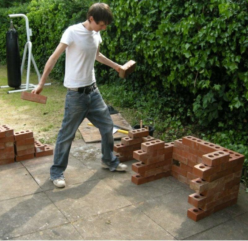 Steingrill selber bauen Garten