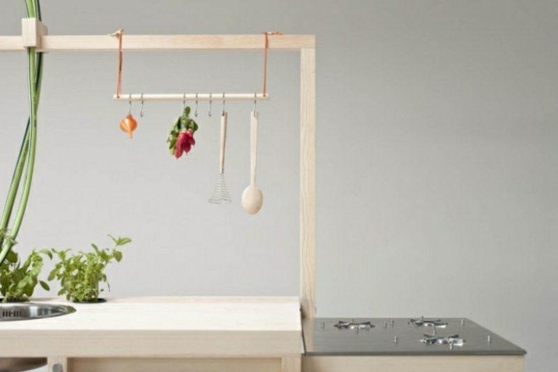 moderne mobile Kücheninsel funktional und praktisch