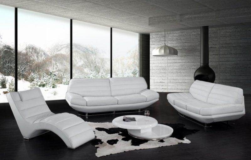 Weiße Sitzmöbel aus Leder!