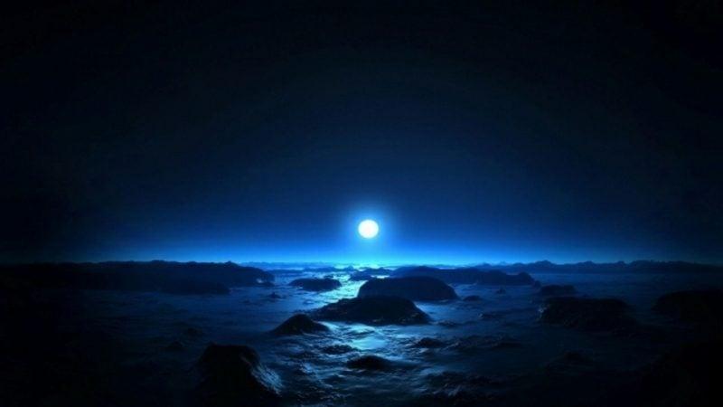 Mondkalender 2015 für Garten Mond und Meer zauberhafte Landschaft