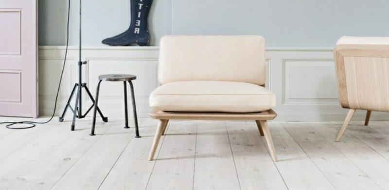 skandinavische Möbel Polstersitze Holzgestell
