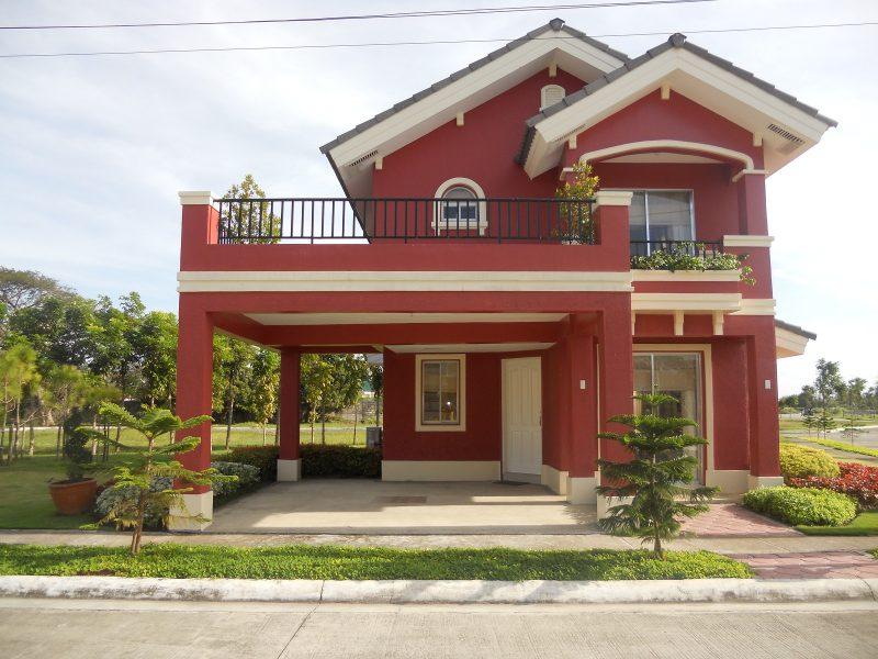 Rote Fassadenfarbe für Ihr Haus