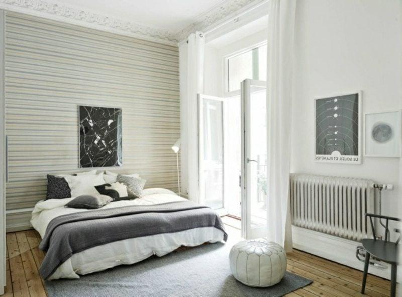skandinavische Möbel Schlafzimmer im Weiss und Grau