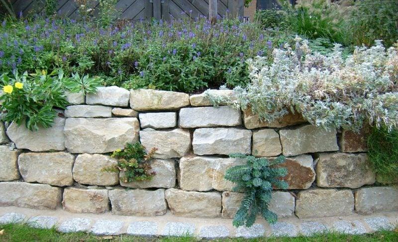 Gartenmauer aus Stein Naturlook