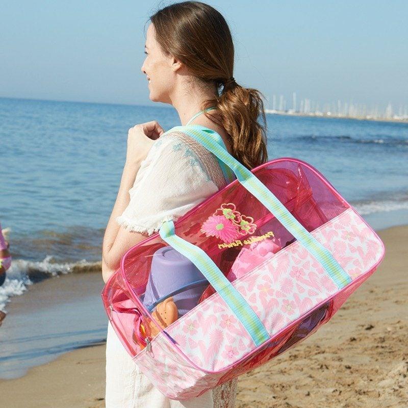 Strandtasche nähen originelle Ideen für den Sommerurlaub