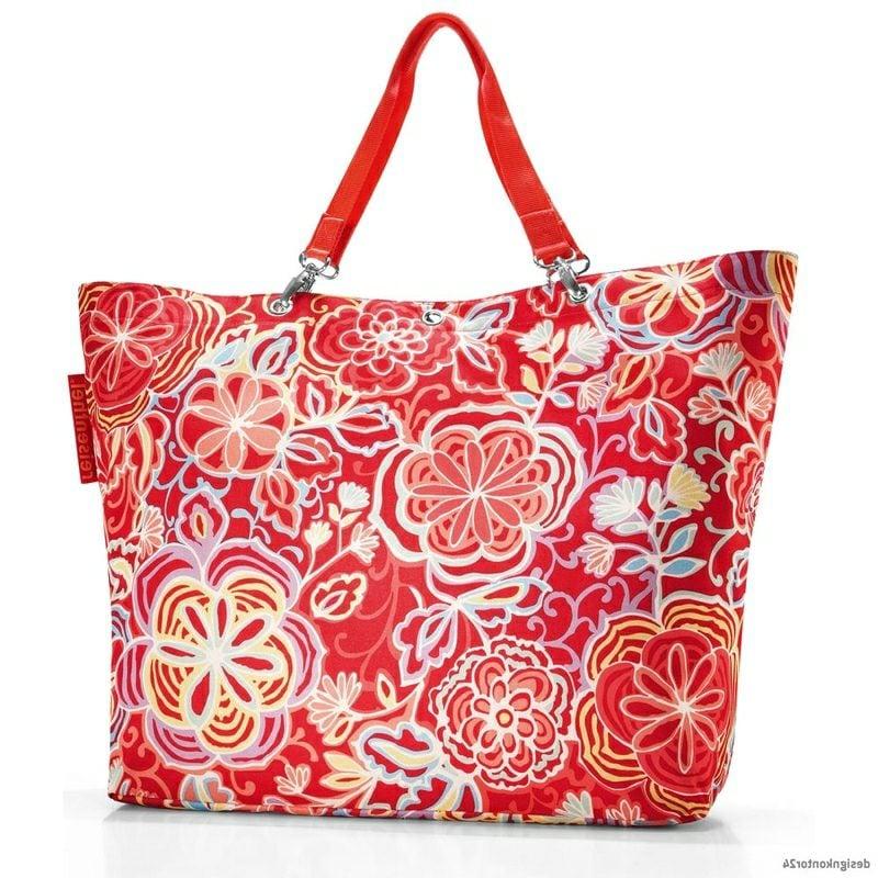 Strandtasche nähen originelles Design florale Motive