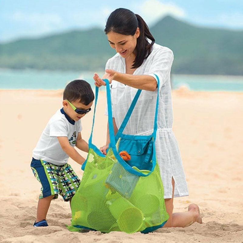 Strandtasche nähen genug grosses Modell auch für die Kinderspielsachen
