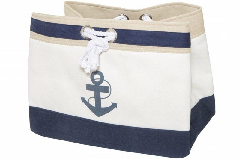 Strandtasche nähen Anker Marineblau originelles Modell