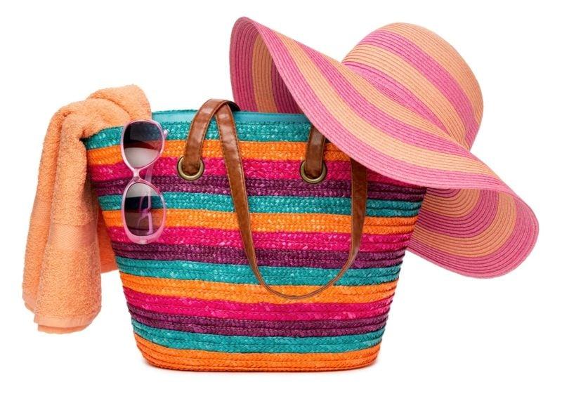 Strandtasche nähen herrliches Modell gestreift farbig