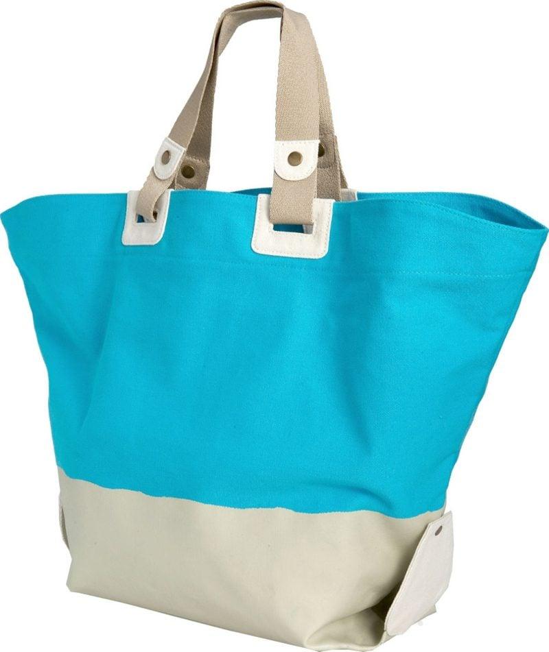 Strandtasche nähen originelle Variante zweifarbig