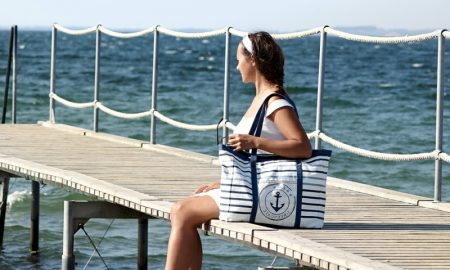 DIY Ideen Strandtasche nähen