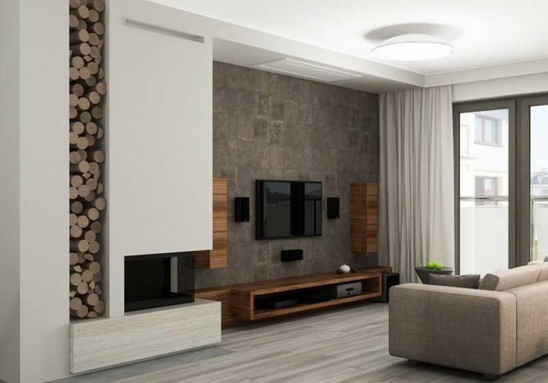 wohnzimmer ideen tv wand. Black Bedroom Furniture Sets. Home Design Ideas