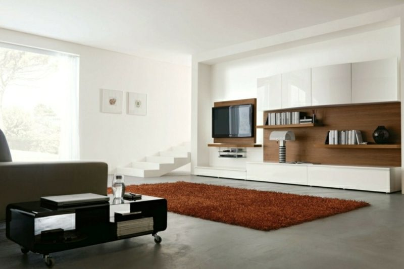 TV Wand selber bauen Akzente im Wohnzimmer setzen