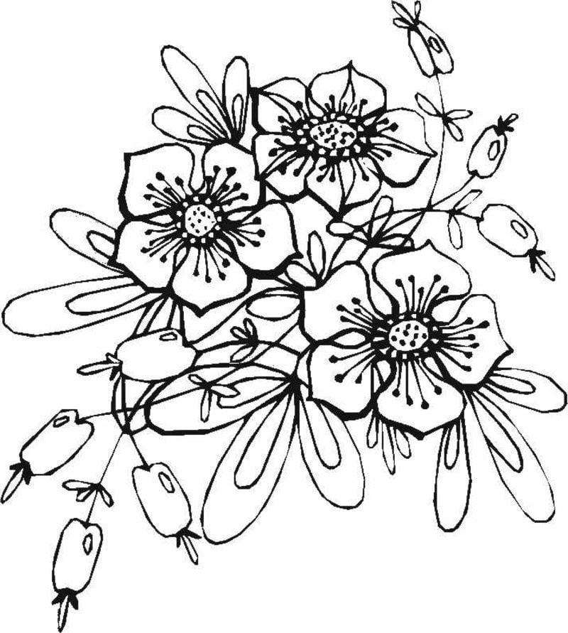interessante Tattoovorlage Blumenranken