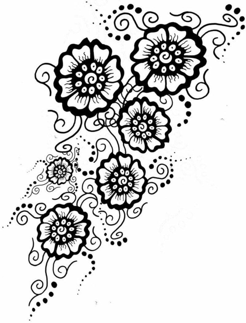 Blumenranken Tattoo originelle Vorlage Frauen
