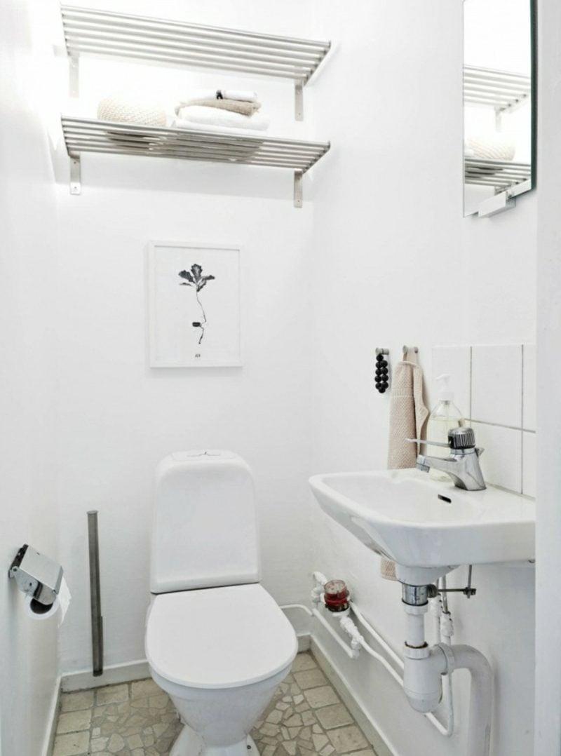 skandinavische Möbel Toilette im Weiss