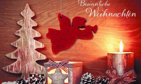 originelle Grusskarte für Weihnachten
