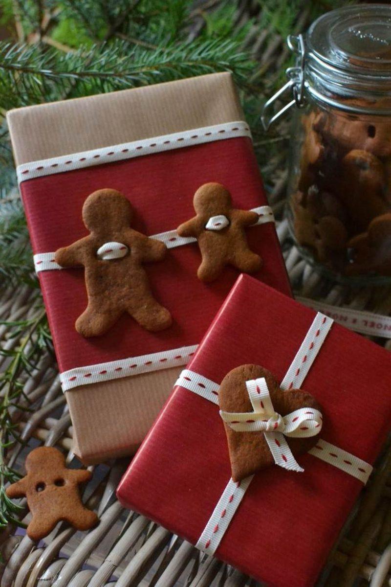 Geschenkverpackung Weihnachten Filzdeko