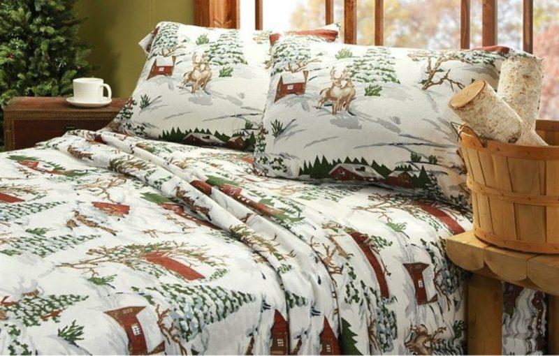 Bettwäsche zu Weihnachten herrliches Design