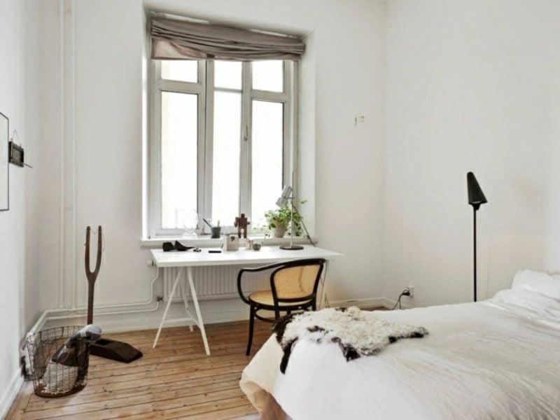 skandinavische Möbel Schlafzimmer neutrale Farbgestaltung