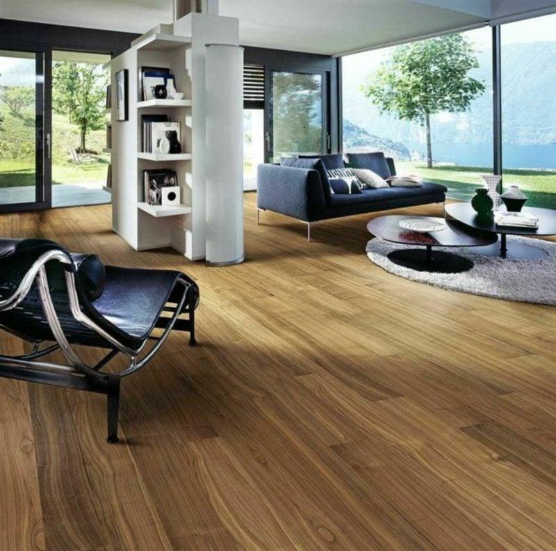 Industrieparkett aus Eiche Massivholz Wohnzimmer moderner Einrichtungsstil