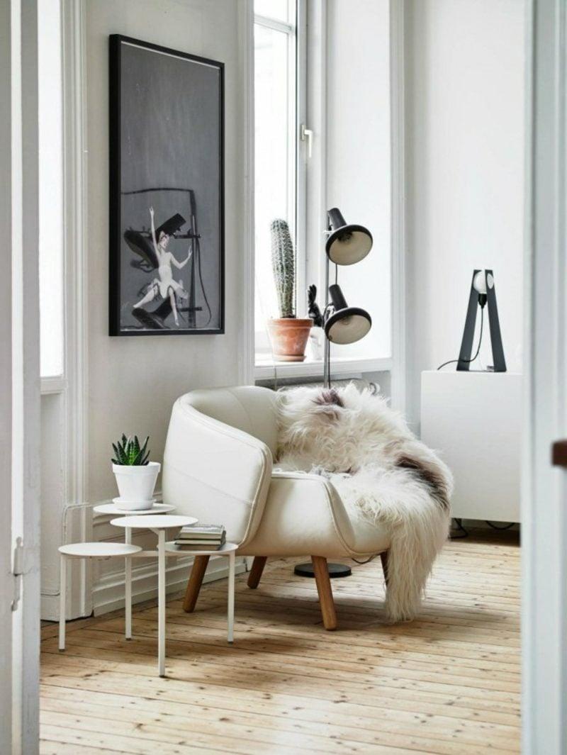 skandinavische Möbel Wohnzimmer origineller Sessel