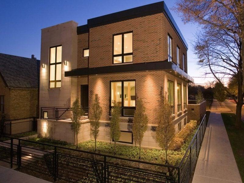 moderne Fassade in Beige