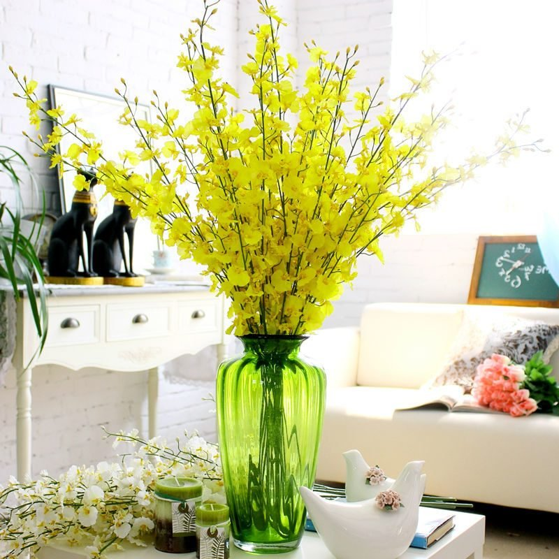 Orchideen im Wohnzimmer.