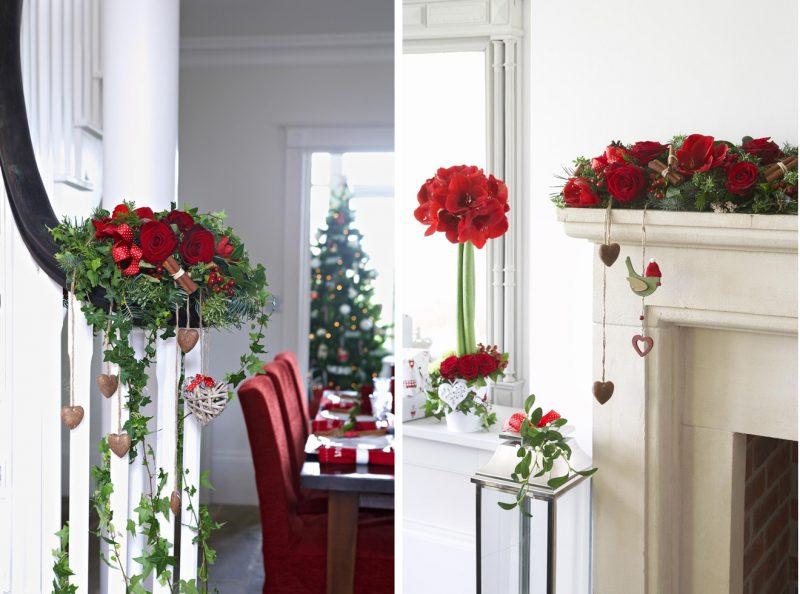 Blumendeko zu Weihnachten.