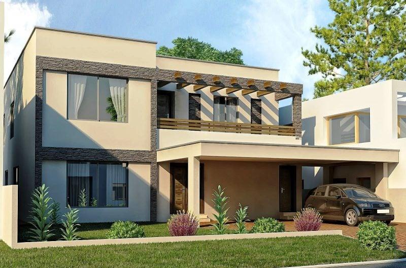 Elegantes Beige für die Fassade